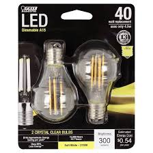 feit a15 40 watt dimmable filament led light bulb intermediate