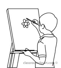 Drawing At Getdrawings Com Free For X Art Palette Paint Clipart Black And White