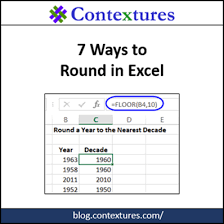 Ceiling Function Excel Vba by 7 Ways To Round In Excel Contextures Blog