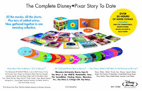 gorgeous 22 disc blu ray box set collects every pixar film