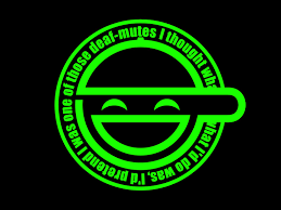 Laughing Man Logo Green Ghost In The Shell By RaitzuViMate