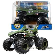 Hot Wheels Year 2017 Monster Jam 1:24 Scale Die Cast Metal Body ... Pictures Of Monster Trucks Save First Female Cadian Truck 2011 Jam Series Hot Wheels Wiki Fandom Powered By Wikia Shark Shock Diecast Vehicle 124 Scale Sonuva Digger Vs Wreak Carro Attack Road Rippers Youtube Remote Control Wwwtopsimagescom 164 2pack Vs Amazoncouk 2002 Original Grave With Pinewood Derby Car Wooden Thing