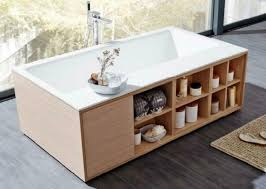 riho girasole badewanne holzrahmen unterschrank schrank unterbau
