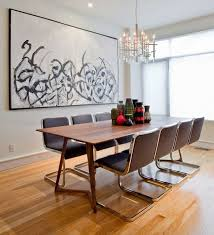 Everyday Tips For Decorating The Dining Table Modern Room Leather Chairs Wall Art