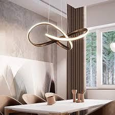 led minimalismus kronleuchter modern brown eisen aluminium pendelleuchte kreativ wohnzimmer esszimmer schlafzimmer studie anhänger hängeleuchte