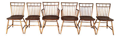 Curtis Colonial Reproductions Birdcage Dining Chairs - Set Of 6