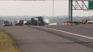 100 Rock Truck Driver Killed After Rock Truck Falls From Bridge Catches Fire