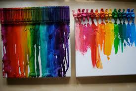 Pink And Green Mama Melted Disney Princess Crayon Rainbow Canvas