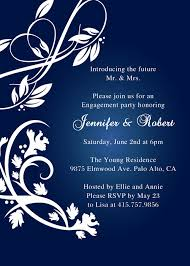 Navy Blue Rustic Engagement Party Invitations EWEI001 I