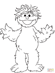 Printable Sesame Street Characters Coloring Pages Alphabet Free Full Size