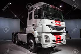 100 Mitsubishi Fuso Truck HANNOVER GERMANY SEP 21 2016 TV On