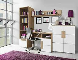 details zu schlafzimmer set 4 teilig eiche artisan weiß schreibtisch bücherregal 67159352