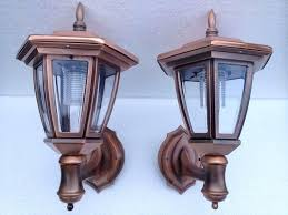 outdoor coach ls our copper carriage lantern solar wall lights