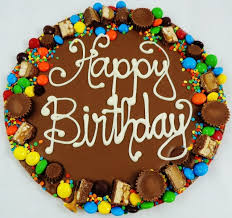 happy birthday chocolate pizza · peanut butter wings