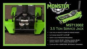 Northern Tool 3 Ton Floor Jack by Monster Mst13002 3 5 Low Profile Service Jack Youtube