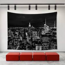 Amazoncom FORHAPPY Black And White New York City Skyline At Night