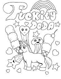 Unicorn Printable Coloring Pages Adult E Swear Free Es Visit To Download And Print Word
