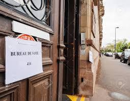 bureau de vote strasbourg may 7 2017 city bureau de vote stock