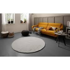 andas teppich blanca rund 15 mm höhe besonders weich durch mikrofaser wohnzimmer
