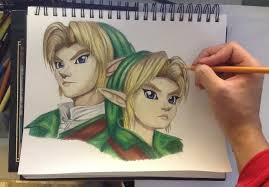 Drawing Link And Young From The Legend Of Zelda Ocarina Time