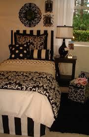 Black And White Damask Dorm Room Bedding Decor 2