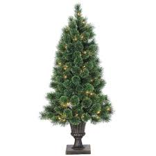 Spiral Pre Lit Christmas Trees by 10 Ft Feel Real Downswept Douglas Fir Artificial Christmas Tree