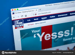 Fox News Channel Website Stock Photo