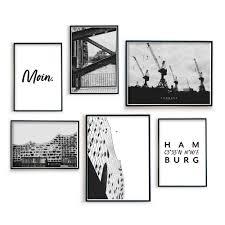 hamburg bilder 6er poster set für dein wohnzimmer