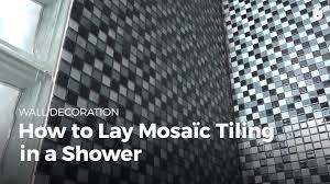 how to lay mosaic tiles in a shower diy projects