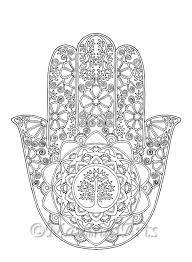 Hand Drawn Adult Coloring Page Print
