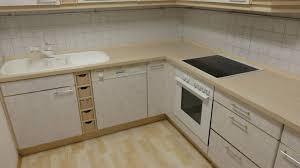 gebrauchte nolte küche t13 front weißgold gepunktet griff