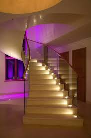 recessed wall lights for stairs interior led stair lighting image