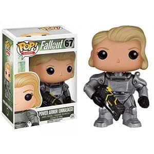 Funko Pop Games 67 Fallout Vinyl Figure - Power Armor Female Unmasked, 3.75""