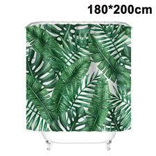 200x180cm duschvorhang dunkel grün monstera blätter wasserdicht anti schimmel weiß polyester badezimmer vorhänge mit 12 haken tropisch dschungel