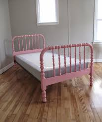 Spindle Headboard And Footboard by Blue Lamb Furnishings Pink Jenny Lind Spindle Spool Bed Sold