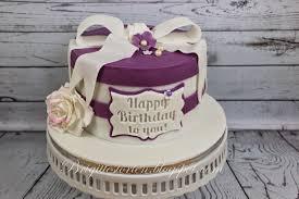 torte zum 60 geburtstag in purple und weiß brigittes