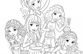 Lego Friends Free Coloring Pages On Art In Page To Invigorate