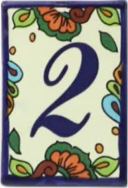 wonderful mexican ceramic house number tiles ceramic tile