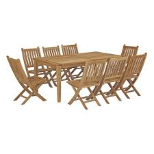 Modway Marina 9 Piece Outdoor Patio Teak Outdoor Dining Set In Natural And Teak Fniture Timber Sets Chairs Round Porch Fa Wood Home Decor Essential Patio Ding Set Trdideen As Havenside Popham 11piece Wicker Outdoor Chair Sevenposition Eightperson Simple Fpageanalytics Design Table Designs Amazoncom Modway Eei3314natset Marina 9 Piece In Natural 7 Brampton Teak7pc Brown Classics