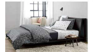 awesome alpine gunmetal steel bed cb2 crate and barrel bed frame