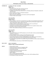Download ESL Teacher Resume Sample As Image File