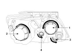 kia replace the low beam bulb headlight assembly to do so