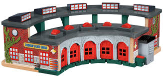 Thomas And Friends Tidmouth Sheds Australia by Thomas Wooden Railway Deluxe Roundhouse Amazon Co Uk Toys U0026 Games