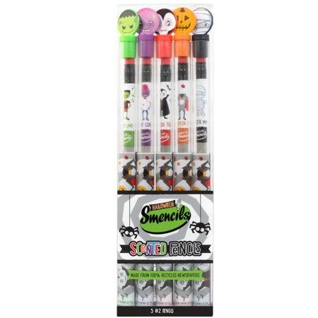 Scentco Halloween Smencils - Scented Pencils, 5Pack