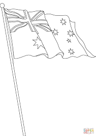Click The Flag Of Australia Coloring Pages