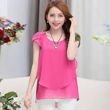 Blouses 2016 New Summer Style Fashion Casual Ladies Tops Plus Size XXXXXL 1648 989