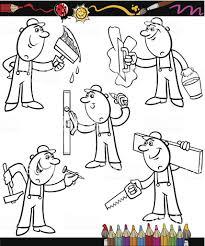Livre De Coloriage De Travailleur Ou Du Conducteur Drôle Emblème