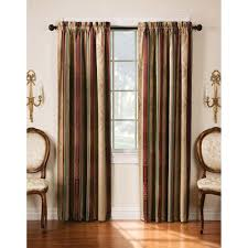 Striped Sheer Curtain Panels by Chf Industries Faux Silk Stripe Rod Pocket Curtain Panel Hayneedle