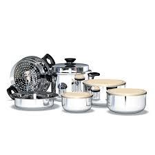 batterie cuisine en batterie de cuisine en inox icook set de base 10 pièces