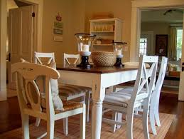 White Rustic Dining Room Sets With Table Pads Have Candles Lamp And A Wicker Above Wood Floor Around Paint Wall Decoration For Living